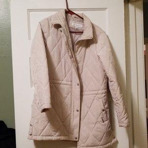 Cream down coat